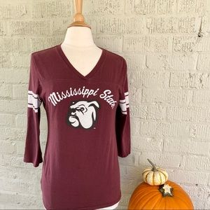 MSU Mississippi State Bulldogs Long Sleeve Tee